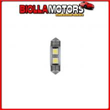 98228 LAMPA 24/28V HYPER-LED 6 - 2 SMD X 3 CHIPS - 10X31 MM - SV8,5-8 - 20 PZ - BUSTA - BIANCO - DOPPIA POLARIT?