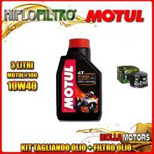 KIT TAGLIANDO 3LT OLIO MOTUL 7100 10W40 GILERA 800 GP / GP Centenario 800CC 2008-2014 + FILTRO OLIO HF565