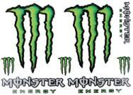 5349 Adesivo Monster Energy 8pz Midi 33 x24 cm