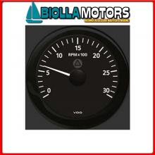 2300205 CONTAGIRI/ORE LCD 3000 D85 BLACK Contagiri VDO View-Line