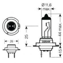 E0300330 LAMPADA H7 12V 55W ALOG PX26D
