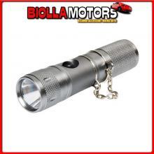 72075 LAMPA POCKET-LED, TORCIA RICARICABILE IN ALLUMINIO ANODIZZATO, 12V