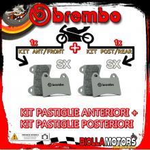 BRPADS-16780 KIT PASTIGLIE FRENO BREMBO LEM CX2 2003- 50CC [SX+SX] ANT + POST
