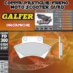 FD300G1054 PASTIGLIE FRENO GALFER ORGANICHE POSTERIORI FACTORY MINI HELIX 02-