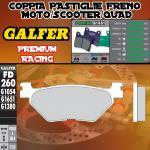 FD260G1651 PASTIGLIE FRENO GALFER PREMIUM POSTERIORI YAMAHA XP 500 T-MAX CUP 03-