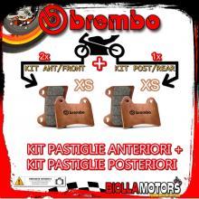 BRPADS-286 KIT PASTIGLIE FRENO BREMBO DERBI RAMBLA 2010- 250CC [XS+XS] ANT + POST