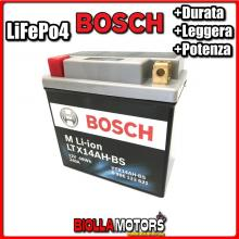 LTX14AH-BS BATTERIA LITIO BOSCH YTX14AH-BS LifePo4 0986122621 YTX14AHBS MOTO SCOOTER QUAD CROSS