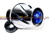 STR-332.00/CR FILTRO HELIX CROMATO CON LED BLU ATTACCO 35-38MM DRITTO + CURVA 90