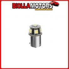 98233 LAMPA 24/28V HYPER-LED 18 - 6 SMD X 3 CHIPS - (R5W) - BA15S - 1 PZ - SCATOLA - BIANCO - DOPPIA POLARIT?