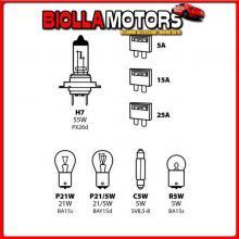 58157 LAMPA KIT LAMPADE DI RICAMBIO 8 PZ, ALOGENA H7 - 12V