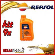KIT 9X LITRO OLIO REPSOL MOTO TRANSMISIONES 80W90 1LT TRASMISSIONE INGRANAGGI - 9x REPSOL31