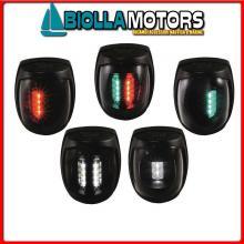 2112110 FANALE RED NERO Fanali USCG-COLREG LED Sirius Black