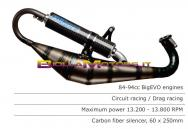 RST.184 SCARICO ROOST motori Minarelli Orizzontale PER GRUPPI TERMICI POLINI BIG EVO 84CC SIL. CARB
