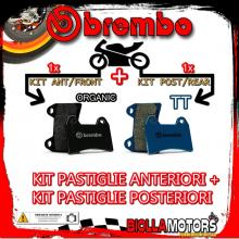 BRPADS-9816 KIT PASTIGLIE FRENO BREMBO DERBI BLACK DEVIL 2004- 50CC [ORGANIC+TT] ANT + POST