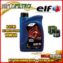 KIT TAGLIANDO 6LT OLIO ELF MOTO TECH 10W50 KAWASAKI VN2000 D6F Vulcan Ltd. 2000CC 2006- + FILTRO OLIO HF204