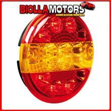 41529 LAMPA FANALE ROTONDO POSTERIORE LED 3 FUNZIONI, 12/24V
