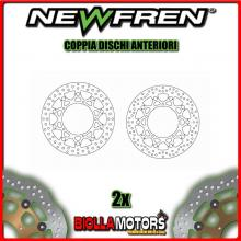 2-DF5166AF COPPIA DISCHI FRENO ANTERIORE NEWFREN YAMAHA YZ-F 600cc R6 2005-2015 FLOTTANTE