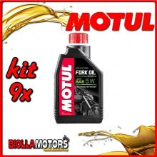 KIT 9X LITRO OLIO MOTUL FORK OIL EXPERT HEAVY 5W FORCELLA - 9x 105929