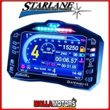 CDAV2R Cruscotto STARLANE DAVINCI-II R con Acquisizione Dati e GPS integrati SENZA CABLAGGIO (funziona solo se abbinato a plug k