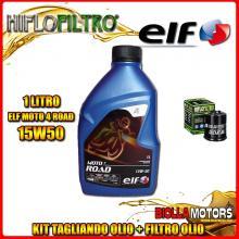 KIT TAGLIANDO 1LT OLIO ELF MOTO 4 ROAD 15W50 GILERA 125 DNA 125CC 2001-2003 + FILTRO OLIO HF183