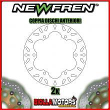 2-DF5063A COPPIA DISCHI FRENO ANTERIORE NEWFREN KAWASAKI GPX 750cc 1987-1989 FISSO