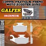 FD318G1054 PASTIGLIE FRENO GALFER ORGANICHE ANTERIORI CAN-AM OUTLANDER 800 MAX STD/XT DER./RIGHT 07-