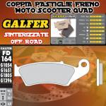 FD164G1396 PASTIGLIE FRENO GALFER SINTERIZZATE ANTERIORI GAS GAS EC 300 SIX DAYS 11-