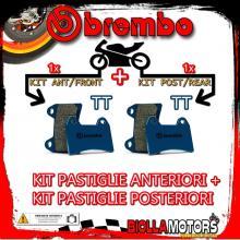 BRPADS-9795 KIT PASTIGLIE FRENO BREMBO ZERO ZF DS 2014- 11.4CC [TT+TT] ANT + POST