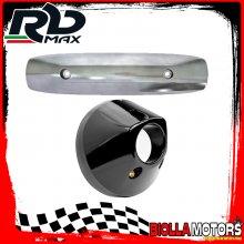 KIT PROTEZIONE MARMITTA YAMAHA T-MAX 500 2008-2011 GRIGIO ANTRACITE (INTERASSE 255mm)