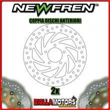 2-DF4038A COPPIA DISCHI FRENO ANTERIORE NEWFREN DERBI RAMBLA 300cc 2010-2011 FISSO