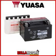 E01156 BATTERIA YUASA YTX7A-BS SIGILLATA CON ACIDO YTX7ABS MOTO SCOOTER QUAD CROSS