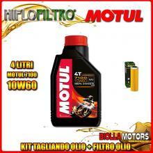 KIT TAGLIANDO 4LT OLIO MOTUL 7100 10W60 KTM 1050 Adventure 1050CC 2015-2016 + FILTRO OLIO HF650