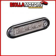 41496 LAMPA PREMIUM, LUCE A 4 LED, MONTAGGIO AD INCASSO, 12/24V - ROSSO