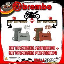 BRPADS-25772 KIT PASTIGLIE FRENO BREMBO HIGHLAND V2 1999- 950CC [SX+SD] ANT + POST