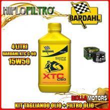 KIT TAGLIANDO 4LT OLIO BARDAHL XTC 15W50 MOTO GUZZI 1400 California Audace 1400CC 2015- + FILTRO OLIO HF565
