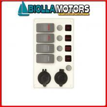2102761 PANNELLO C7/IP66 4P ALU WH BAT+12V AV< Pannelli C7-IP66 Socket White