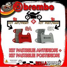 BRPADS-14058 KIT PASTIGLIE FRENO BREMBO KTM SUPERMOTO 2005- 950CC [SA+SX] ANT + POST