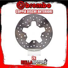 2-68B407E1 COPPIA DISCHI FRENO ANTERIORE BREMBO KYMCO XCITING 2005-2008 250CC FISSO