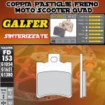 FD153G1380 PASTIGLIE FRENO GALFER SINTERIZZATE ANTERIORI MBK MOTOBEKANE BOOSTER WHEEL 12- 06-