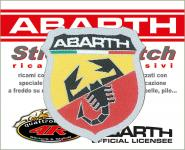 21560 ADESIVO ABARTH STICKERS PATCH SCUDETTO 48X51 MM