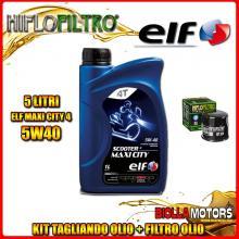 KIT TAGLIANDO 5LT OLIO ELF MAXI CITY 5W40 KAWASAKI ZX-12R A1,A2,B1,B2 Ninja (ZX1200) 1200CC 2000-2003 + FILTRO OLIO HF204
