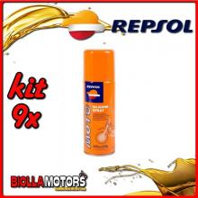 KIT 9X 400ML OLIO REPSOL MOTO SILICONE SPRAY 400ML - 9x REPSOL43