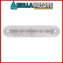 2145720 PLAFONIERA STRIP INCASSO 6LED L140 Luce Strip1 6 LED 12V