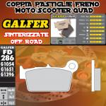 FD286G1396 PASTIGLIE FRENO GALFER SINTERIZZATE POSTERIORI HM DERAPAGE 2T COMPETICION 11-