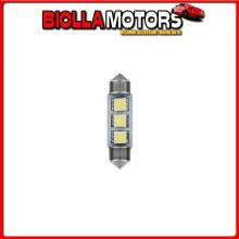 98226 LAMPA 24/28V HYPER-LED 9 - 3 SMD X 3 CHIPS - 10X39 MM - SV8,5-8 - 20 PZ - BUSTA - BIANCO - DOPPIA POLARIT?