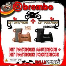 BRPADS-48675 KIT PASTIGLIE FRENO BREMBO DERBI RAMBLA 2010- 125CC [XS+ORGANIC] ANT + POST