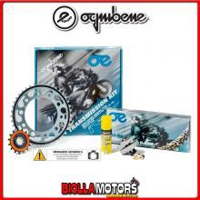 1560581645 KIT TRASMISSIONE OE YAMAHA MT-07 (cc 689) - ABS - MC Moto Cage ( Ratio - 2 ) 2014- 700CC