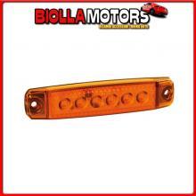 97009 LAMPA LUCE INGOMBRO A 6 LED, MONTAGGIO IN SUPERFICIE,12/24V - ARANCIO