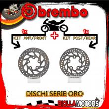 BRDISC-1505 KIT DISCHI FRENO BREMBO KYMCO GRAND DINK 2002-2007 125CC [ANTERIORE+POSTERIORE] [FISSO/FISSO]