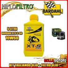 KIT TAGLIANDO 5LT OLIO BARDAHL XTS 10W60 SUZUKI GV1400 GCG,GDG,GTG 1400CC 1986- + FILTRO OLIO HF134